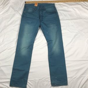 New Levi's 501 Straight Leg Button Fly Jeans